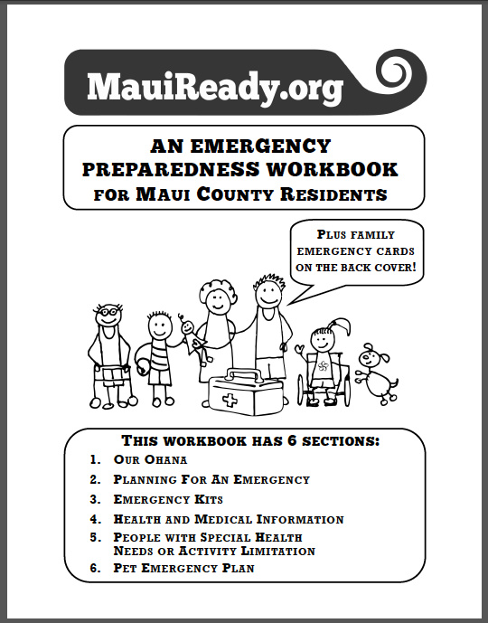 Workbook Cover 1 – Emergency Preparedness Information for Maui ...